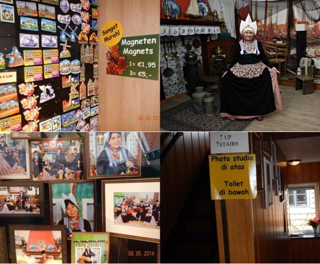Setelah berpuluh puluh tahun akhirnya kesampaian juga ibu berfoto ala nenek-nenek Belanda di Volendam
