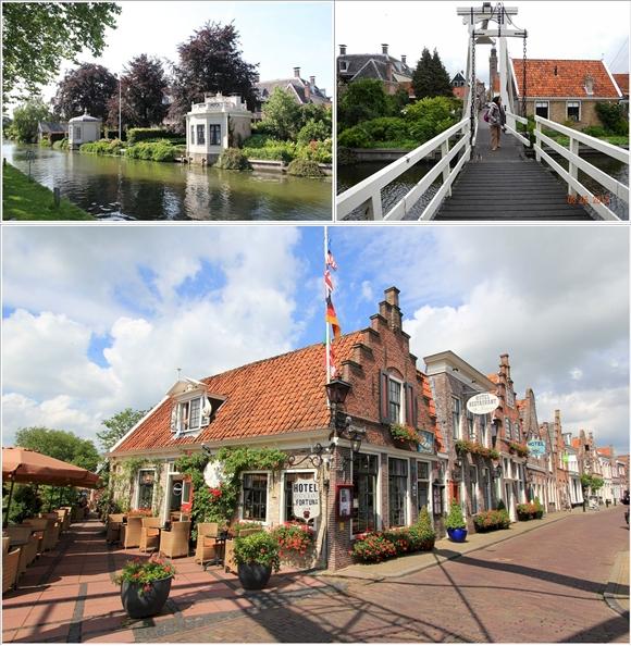 Schem (atas) dan Hotel De Fortuna (bawah). Photo by : fortuna-edam.nl & koleksi pribadi)