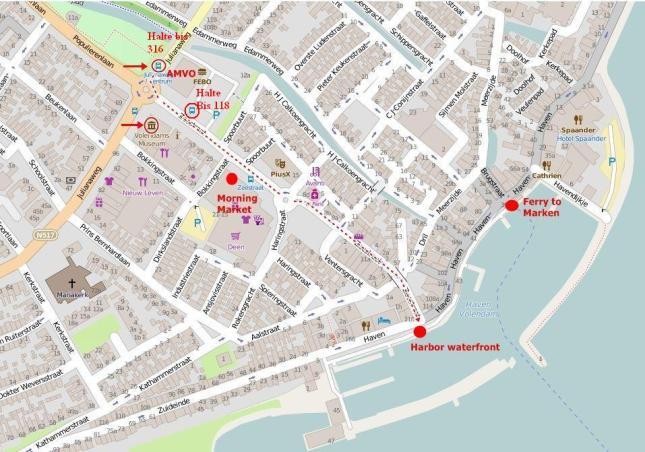 Volendam-map