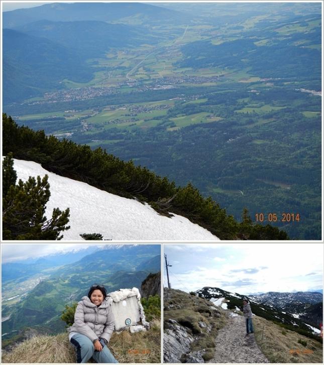 Pemandanga menuju puncak dan jalur hikingnya