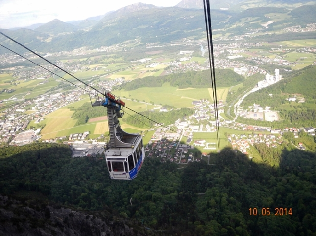 Perjalanan dengan Cable Car Mt. Untersberg