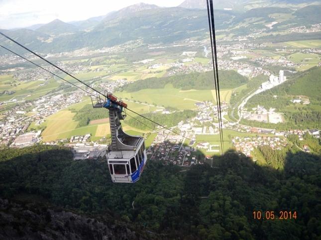 Perjalanan dengan Cable Car Mt. Untersberg