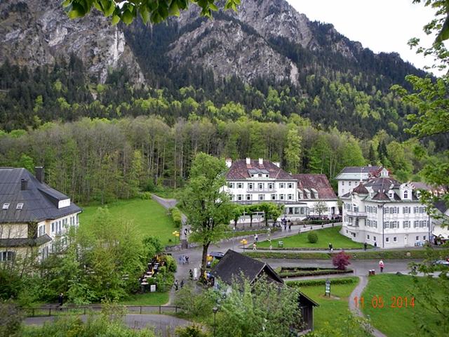Pemandangan dari jalur pendek menuju Hohenschwangau