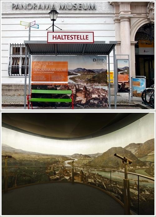 Bagian depan dan bagian dalam Salzburg Panorama Museum (Foto koleksi pribadi dan Salzburg Museum)