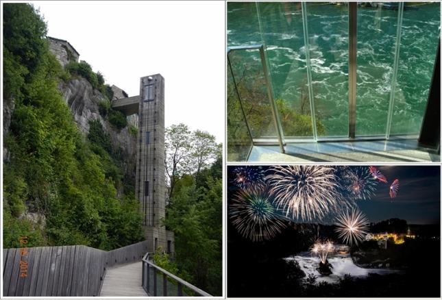 Panorama Lift (kiri dan kanan atas), Kembang Api di Rhinefalls (kanan bawah). Photo by : http://timecaptures.com dan koleksi pribadi)