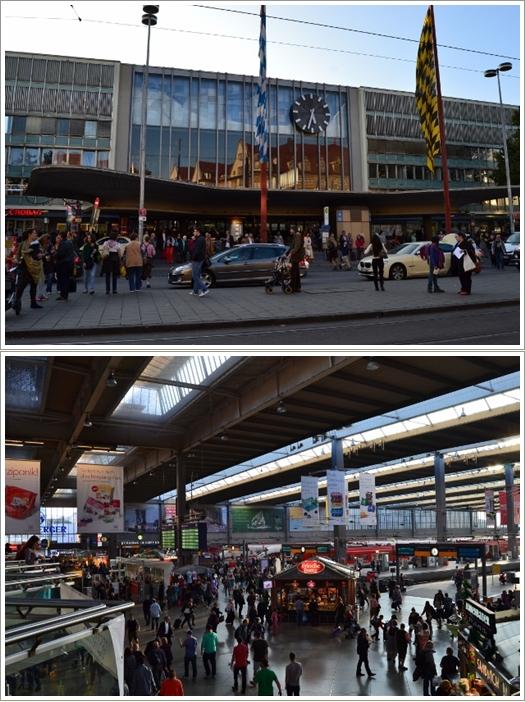 Bagian luar dan dalam stasiun Munich HBF