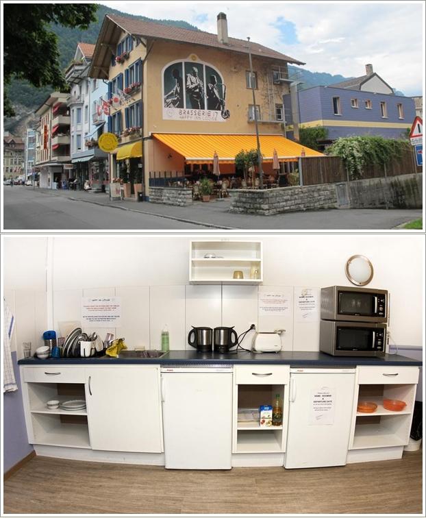 Bagian Depan dan Dapur Happy Lodge Inn Interlaken