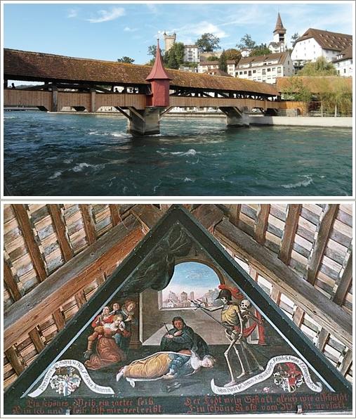 Spreuer Bridge dan lukisan di dalamnya