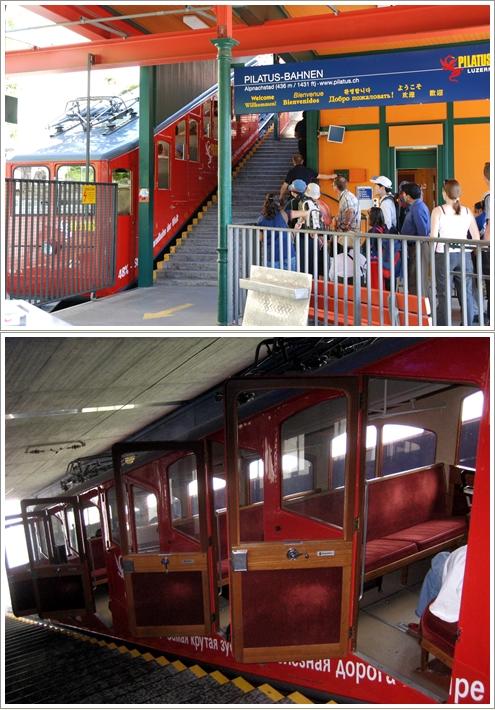 Gerbong Pilatus Cogwheel Train