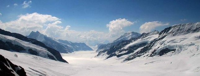 The Aletsch glacier yang terlihat dari Jungfraujoch (Photo by : Jurmo)