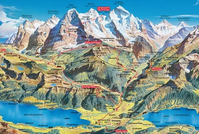 Peta Jungfraujoch