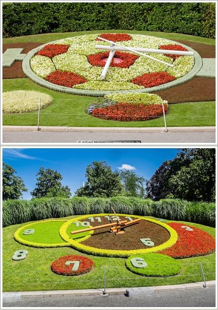 Tampilan Flower Clock Tahun 2009 (Atas, Photo By : molon.de) dan tampilan tahun 2013 9bawah, Photo By : panoramio.com)