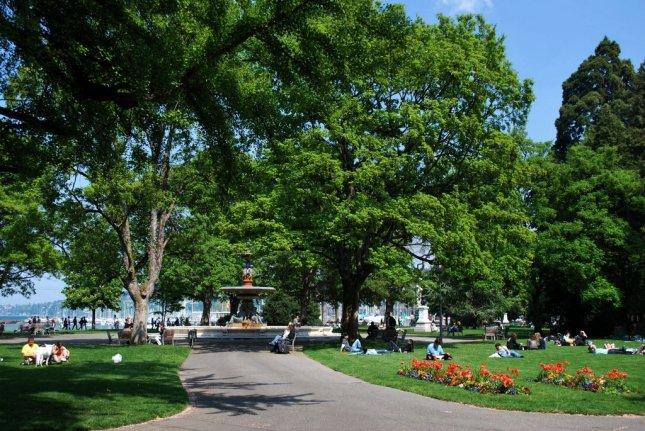 Salah Satu Sudut Jardin Anglais Jenewa
