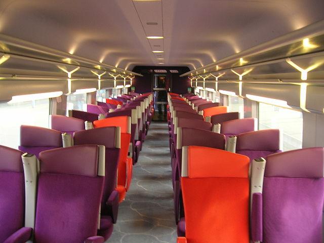 Bagian dalam TGV Lyria Second Class
