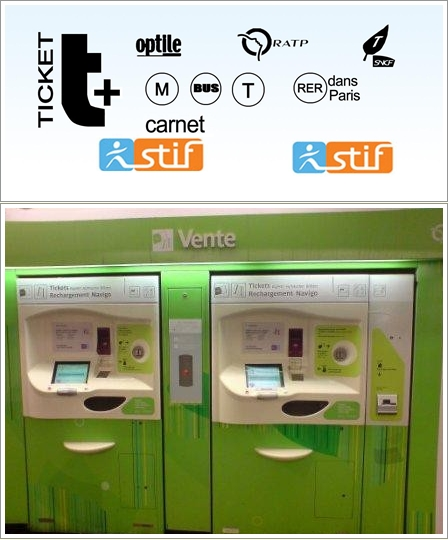 Ticket t+(atas) dan Vending Machinenya (bawah)