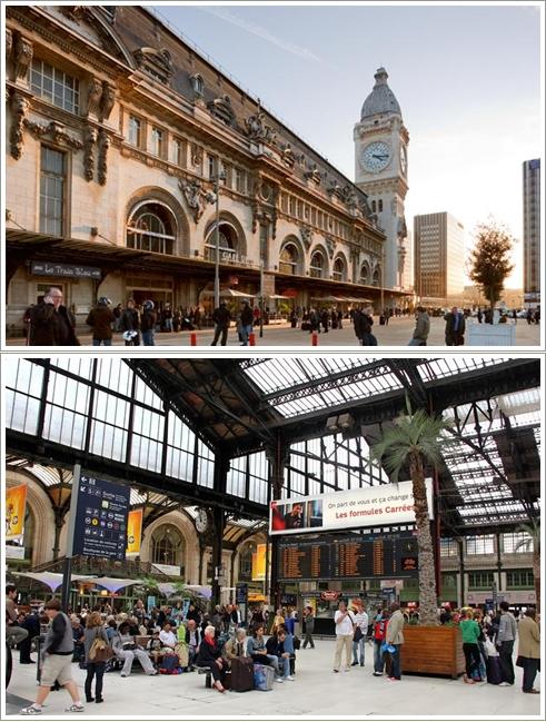 Bagian luar dan dalam Gare de Lyon